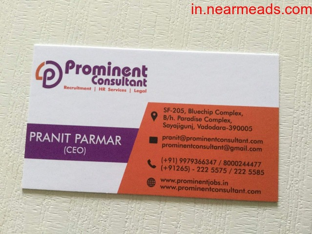 Prominent Consultant – Best Job Consultants in Vadodara - 1