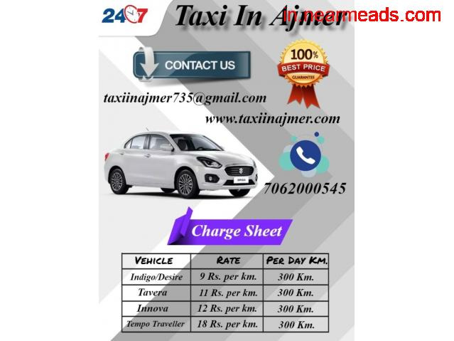 Ajmer Local Taxi , Ajmer Local Taxi Rates , Ajmer Taxi - 1
