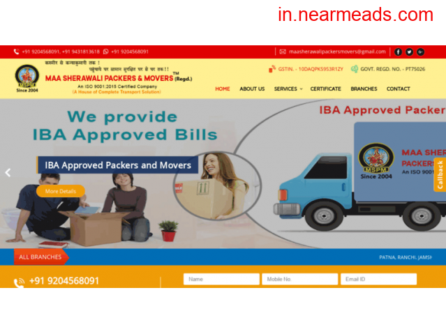 Maa Sherawali Packers and Movers in Patna - 2