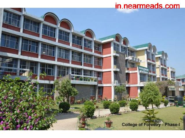 Dr. Yashwant Singh Parmar University of Horticulture and Forestry Shimla - 1